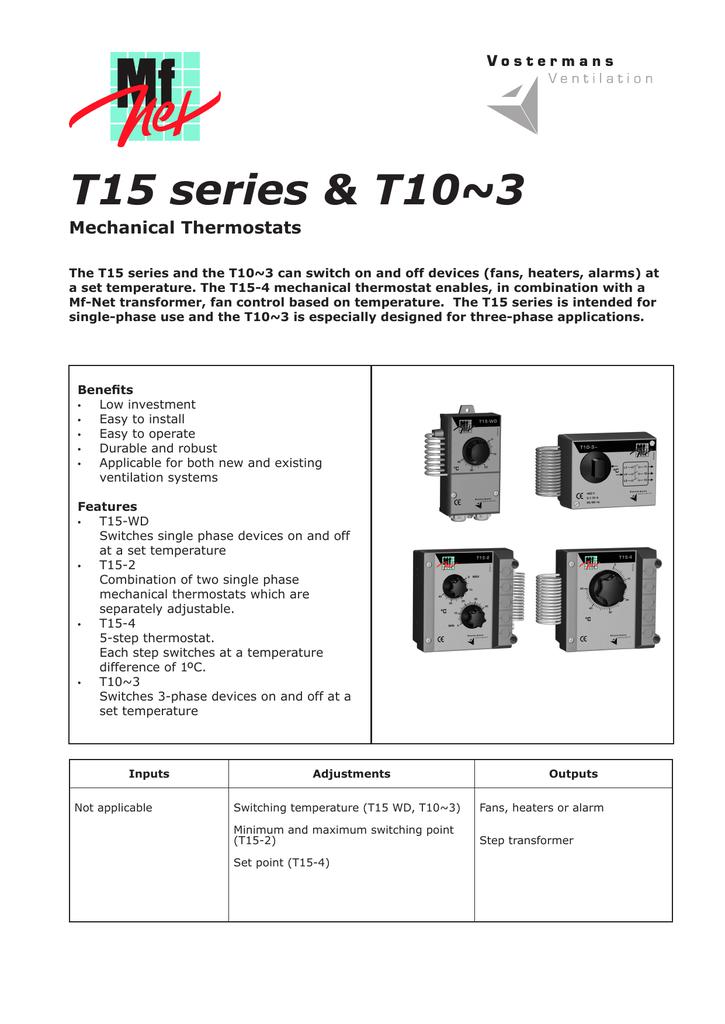 Multifan T15-2 Two Stage Thermostat Information Sheet   Manualzz   Multifan Wiring Diagram      manualzz