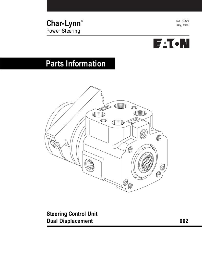 Char-Lynn Parts Information Steering Control Unit Dual