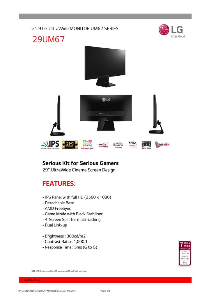 LG 29UM67-P Specification | manualzz com