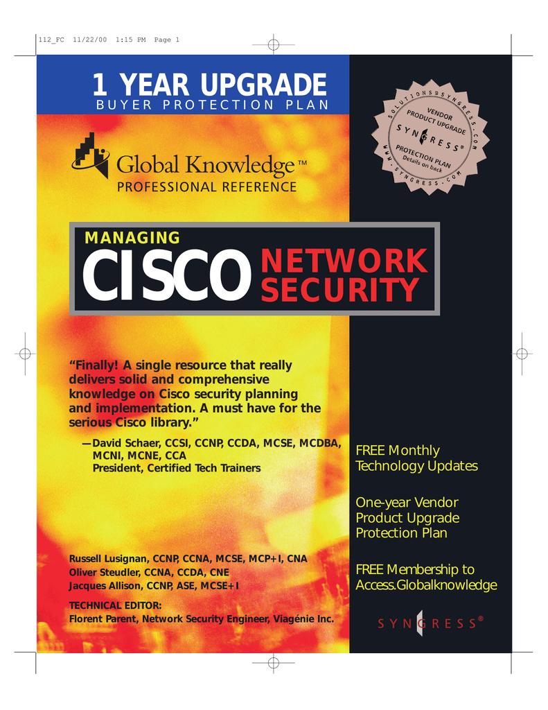 Managing Cisco Network Security | manualzz com