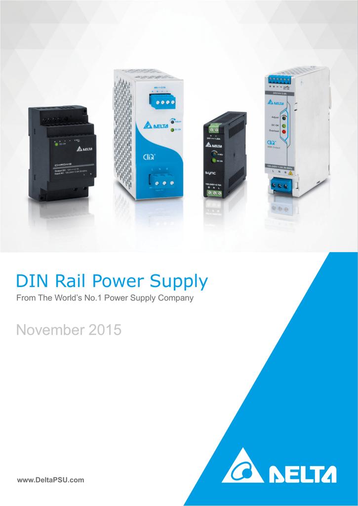 Delta DRC-24V10W1AZ DIN Rail Power Supplies 24V 10W Class II 91 x 18 x 55.6 mm