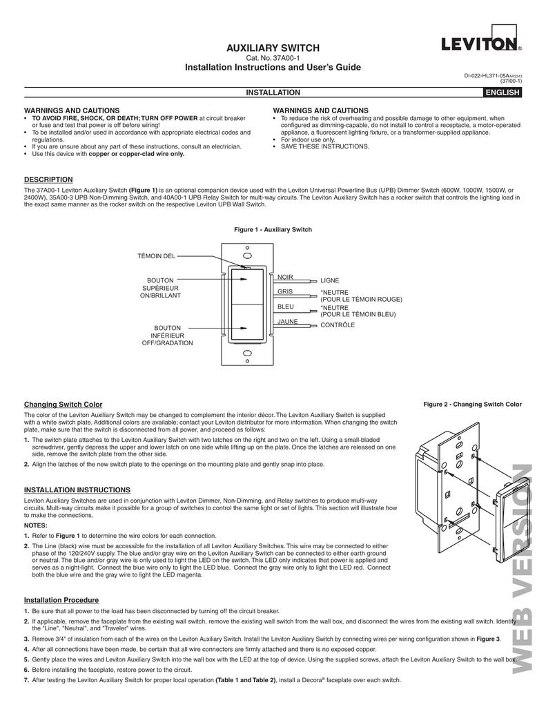 Leviton Hai 37a00 1 Install Manual Manualzz