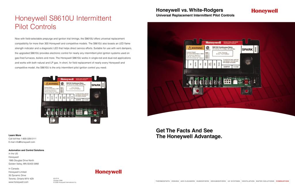 honeywell vs whiterodgers intermittent pilot controls