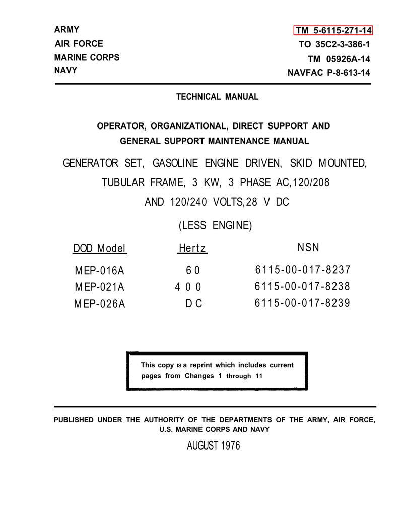 TM-5-6115-271-14 | manualzz com