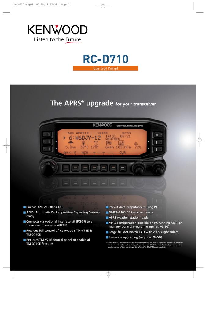 RC-D710 The APRS upgrade for your transceiver   manualzz com