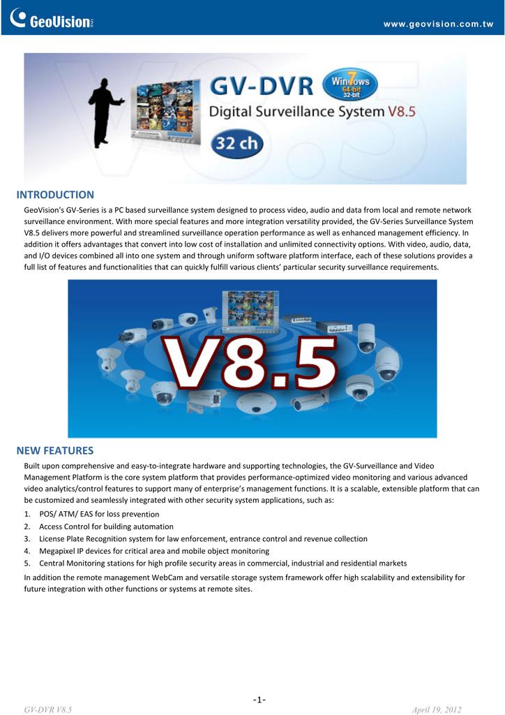 Geovision NVR software data sheet   manualzz com