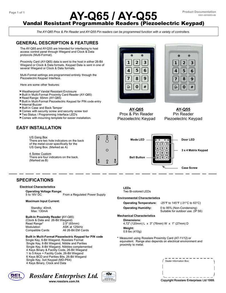Datablad AY-Q65 | manualzz com