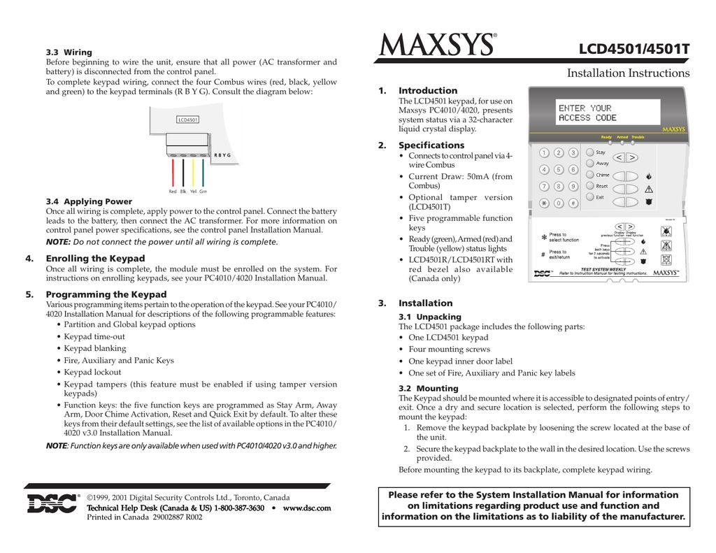 lcd4501 lcd installation manual