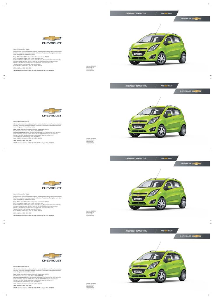 [NRIO_4796]   CHEVROLET BEAT PETROL | Manualzz | Chevrolet Beat Fuse Box |  | manualzz