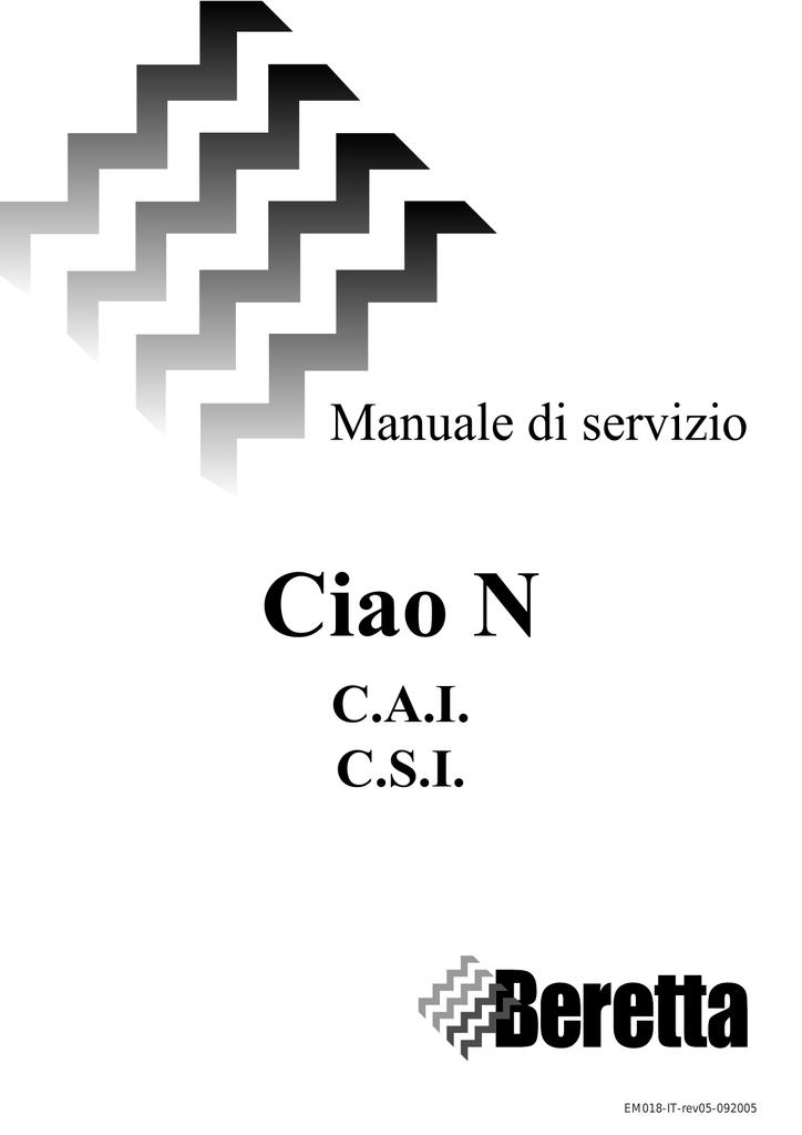 Beretta Scheda Tecnica Caldaia Ciao N Manualzz Com