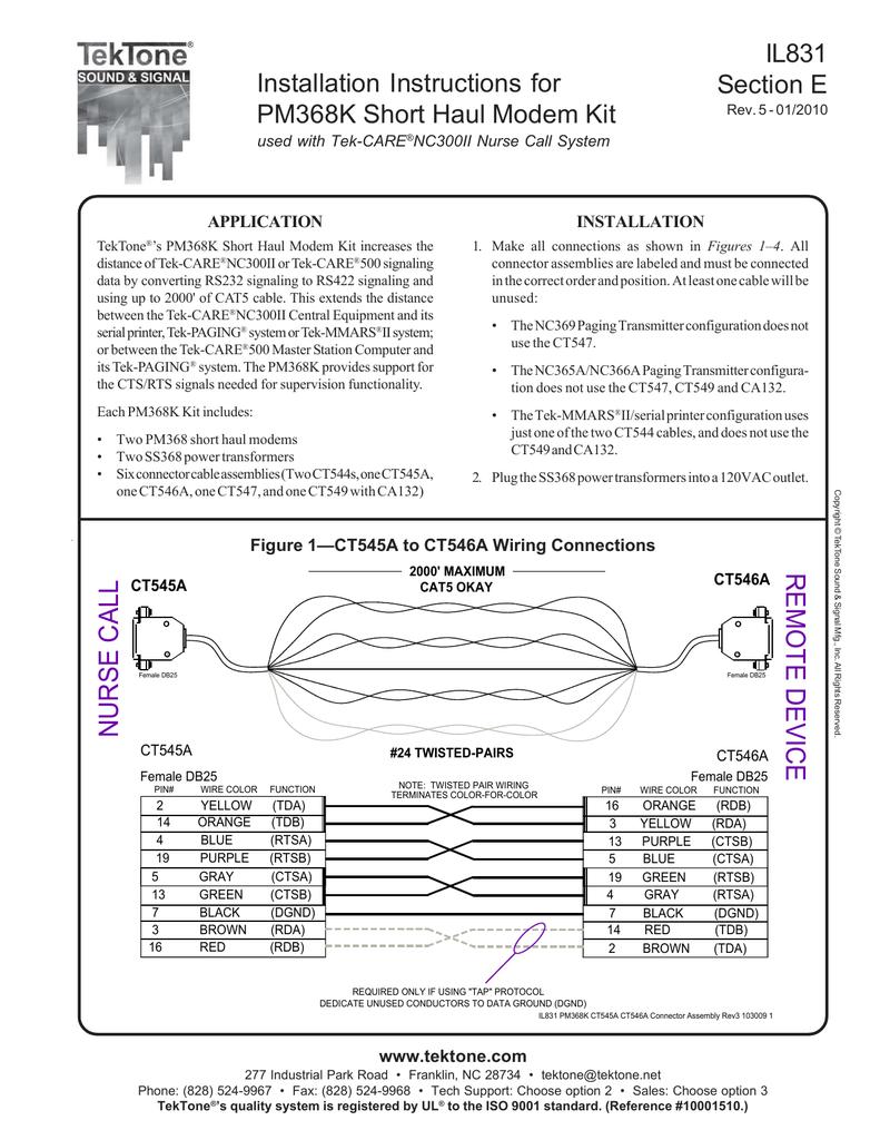 Db25 To Rj45 Wiring Diagram