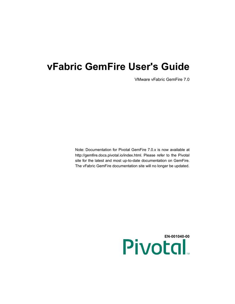 gemfire 7.0.1