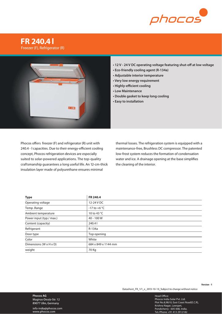 Datasheet FR 240 4L 61 97 KB PDF   manualzz com