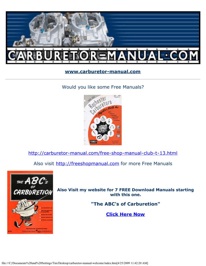 "www carburetor-manual com """