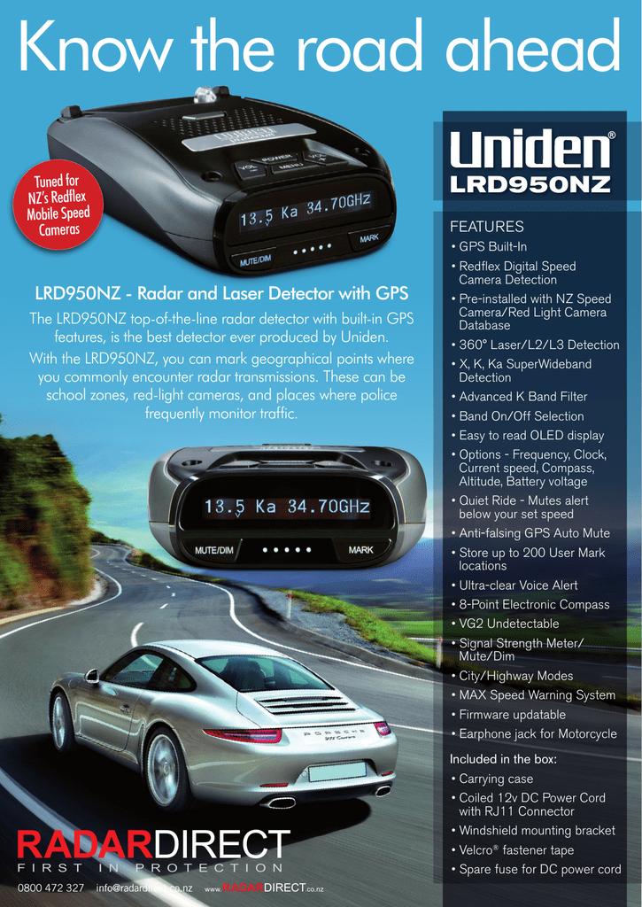 Uniden LRD950NZ product sheet | manualzz com