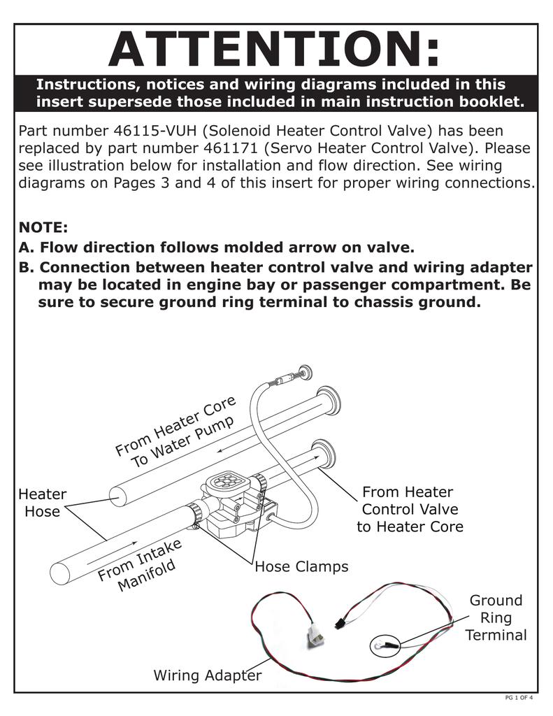 Gen Iv Servo Heater Control Valve Flow Direction Wiring Instructions 3 Terminal Solenoid Diagram