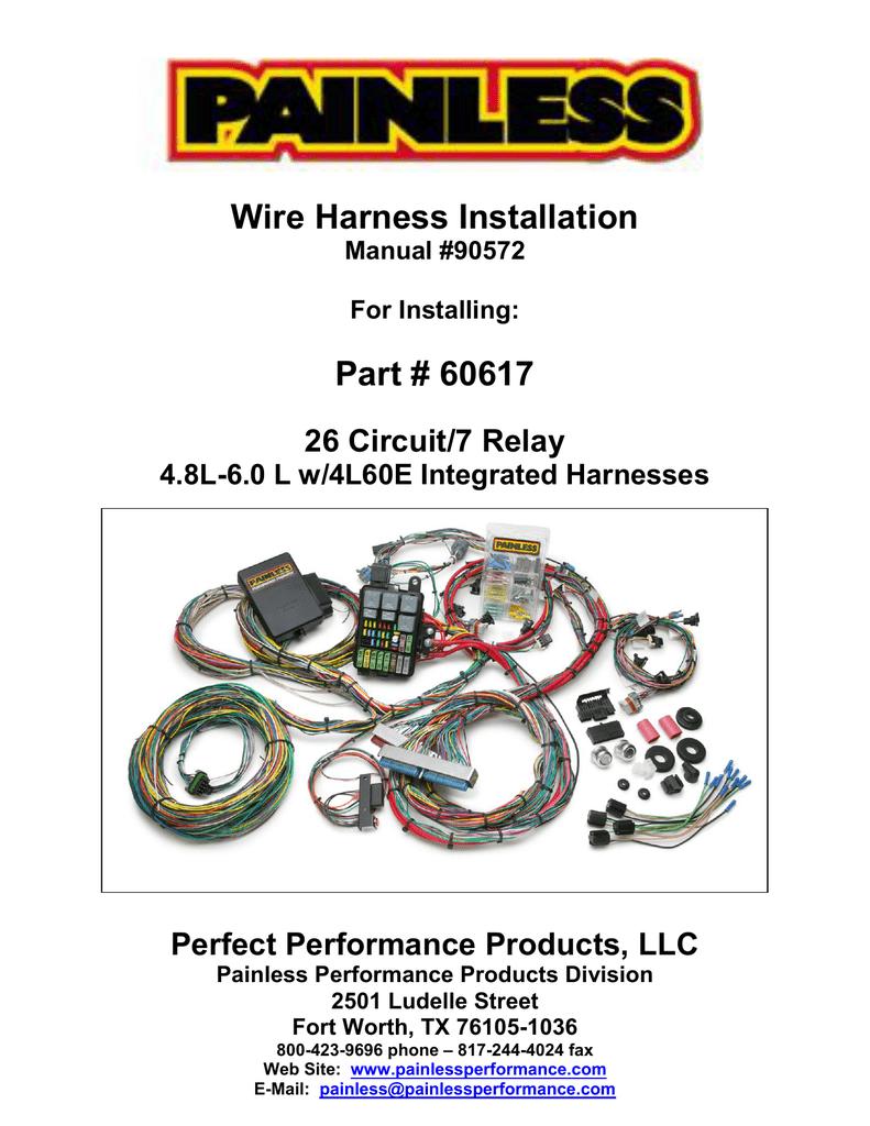 painless performance wiring diagram water pump 60617 manualzz  60617 manualzz