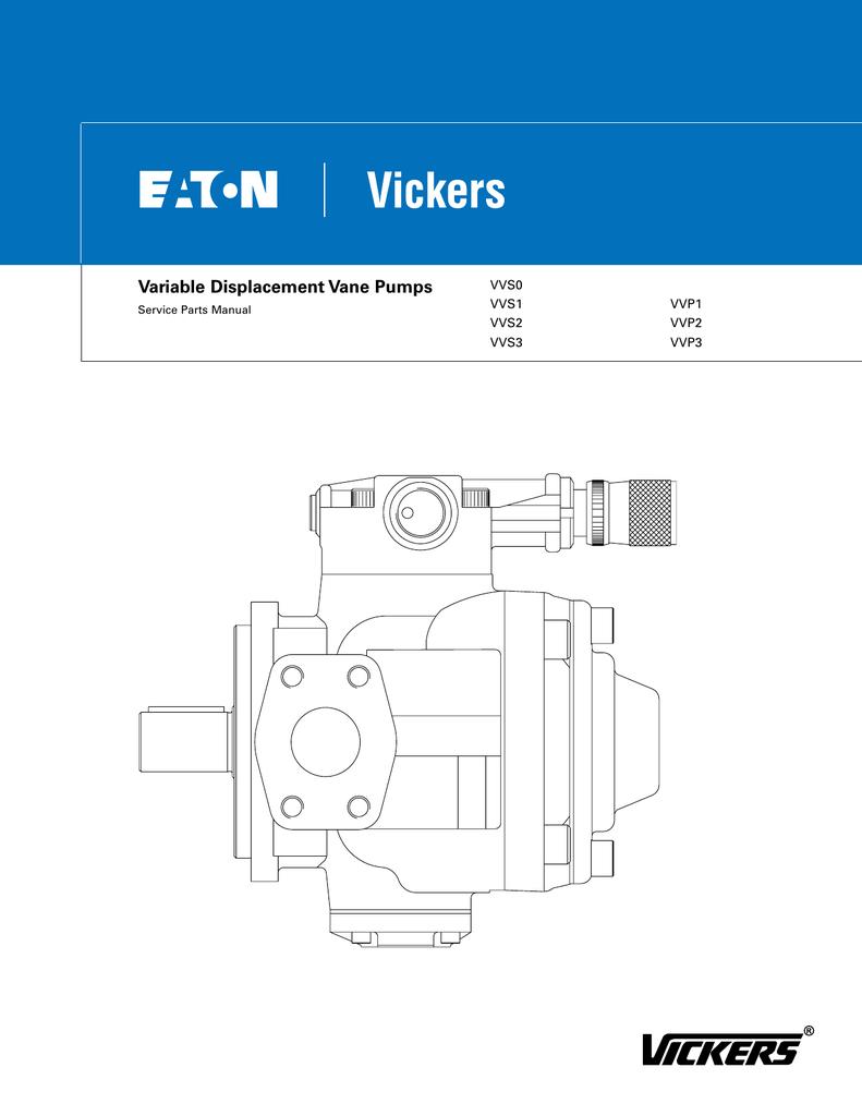 Variable Displacement Vane Pumps Vvs0 Vvs1 Vvp1 Pump Diagram