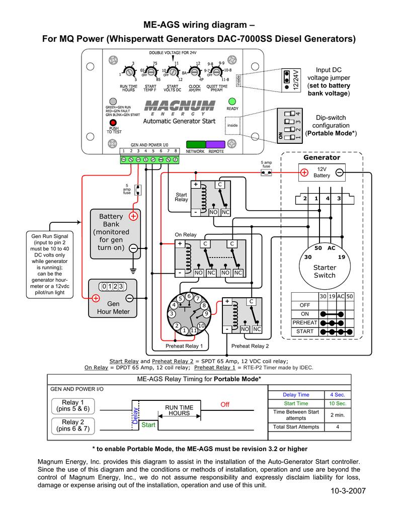 Whisperwatt DAC-7000SS Diesel Generator Wiring Diagram | ManualzzManualzz