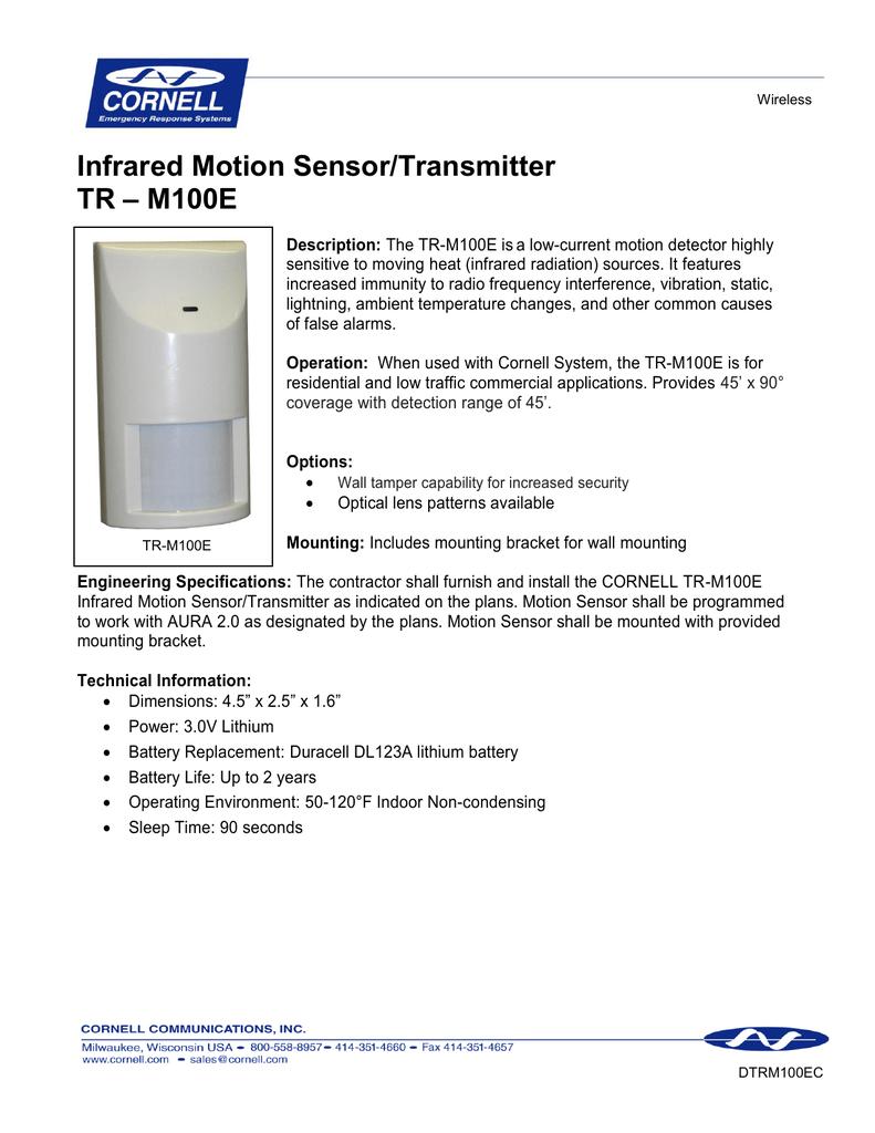 Infrared Motion Sensor-Transmitter TR   manualzz com