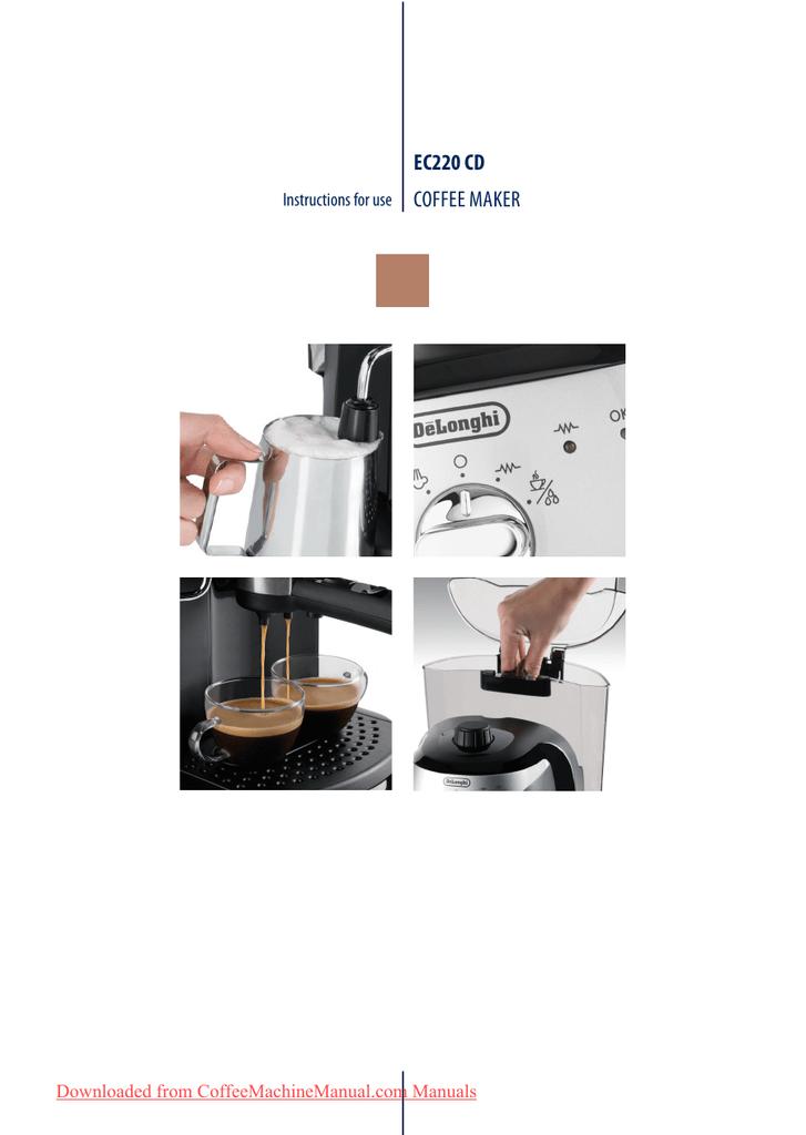 Véritable delonghi filtre support poignée pour cpa450/ec150/ec152.