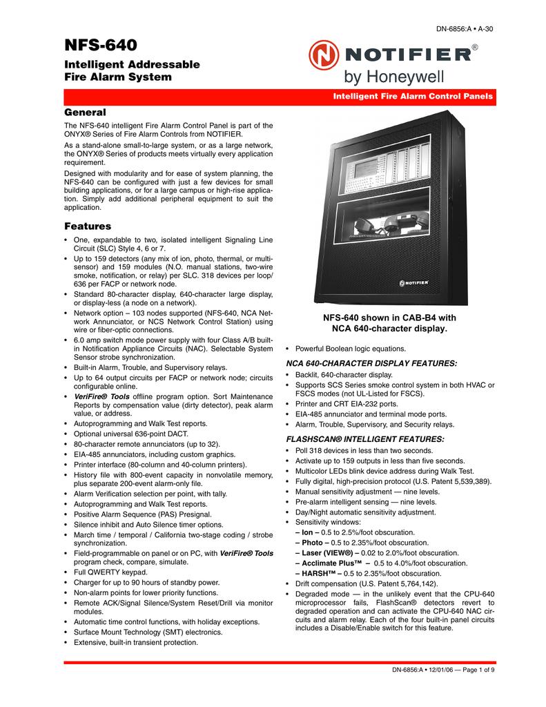 Notifier NFS-640 DN_6856 | manualzz.com