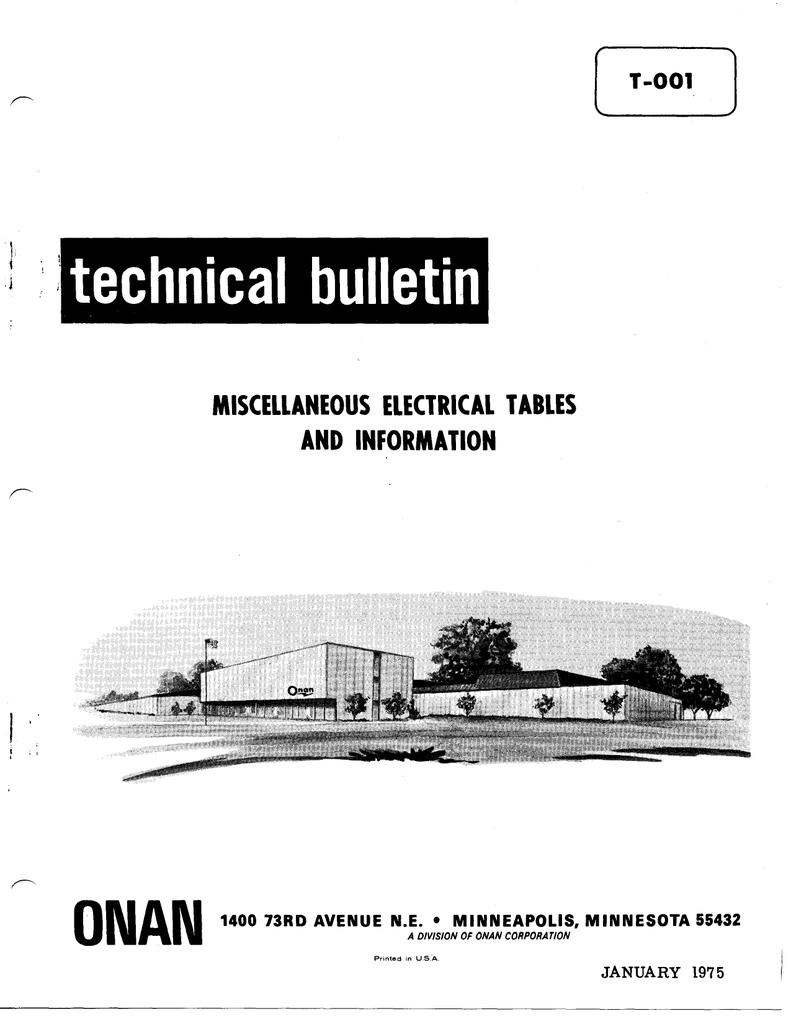 Wiring Diagram For Onan 12 5jc 6500 Generator Circuit Technical Bulletins Manualzz Com Ignition Coil