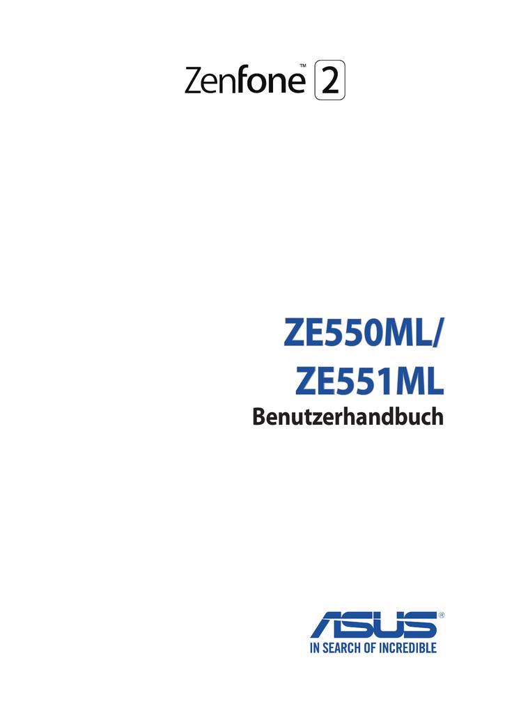 Bedienungsanleitung ASUS ZenFone 2 ZE551ML | manualzz.com