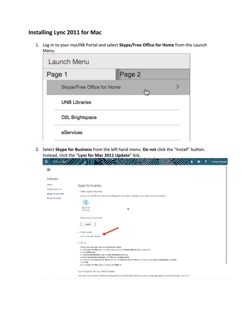 Instructions for installing the Lync Client   manualzz com