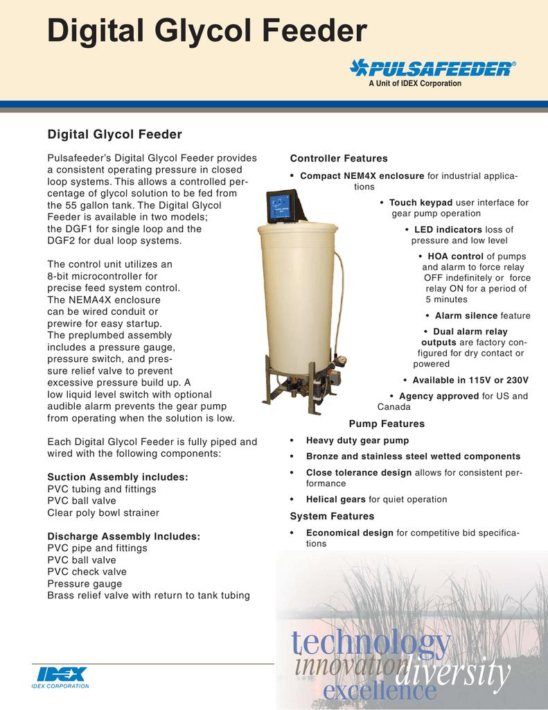 Pulsafeeder Digital Glycol Feeder Brochure   manualzz com