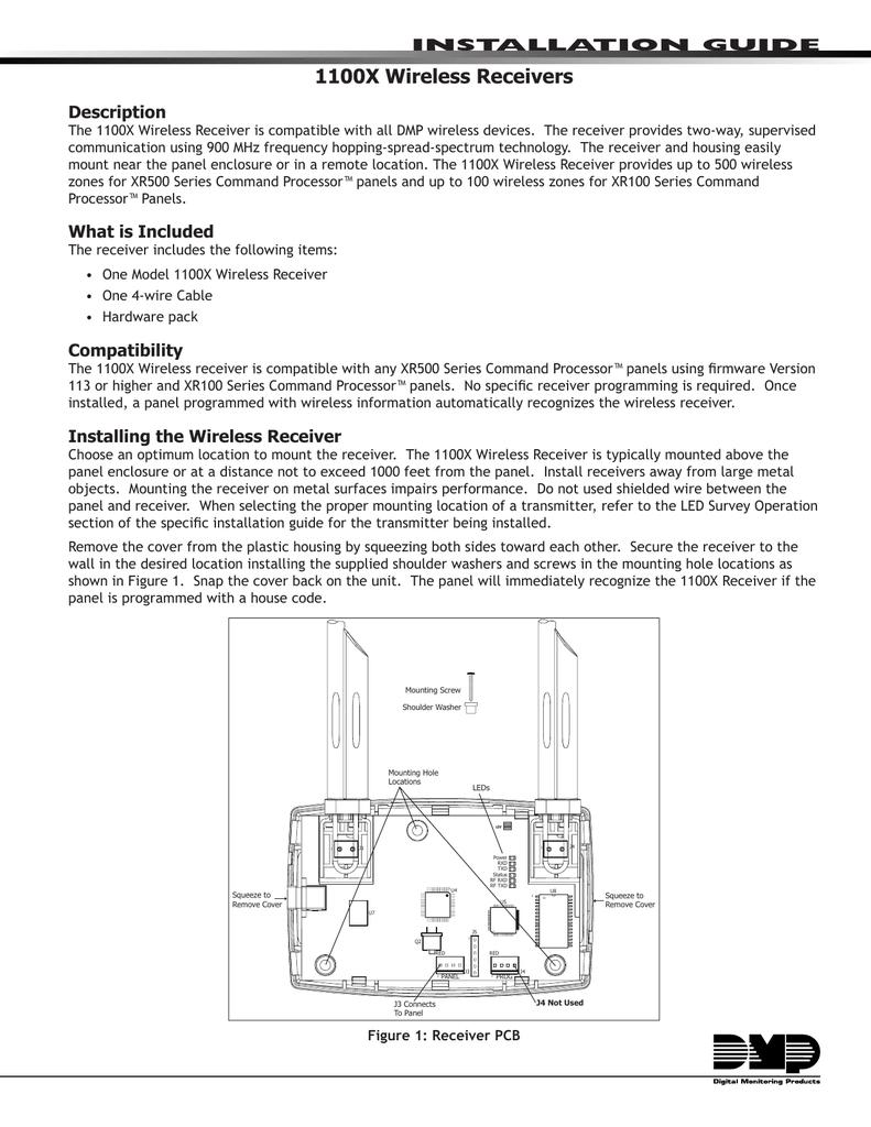 1100x Rf Receiver Installation Manual