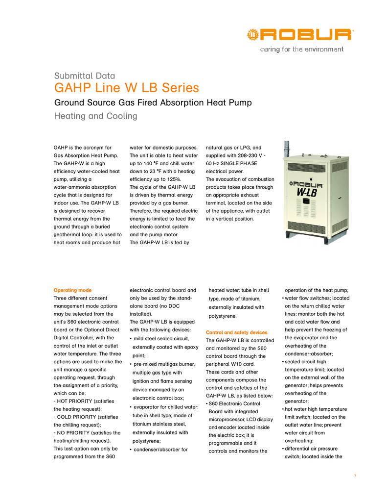 GAHP-W LB Submittal PDF file   manualzz com
