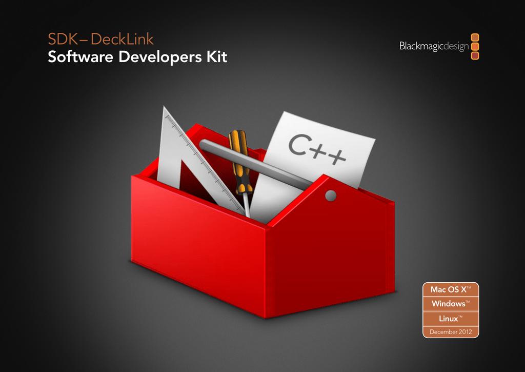 Blackmagic Decklink SDK (December 2012) | manualzz com