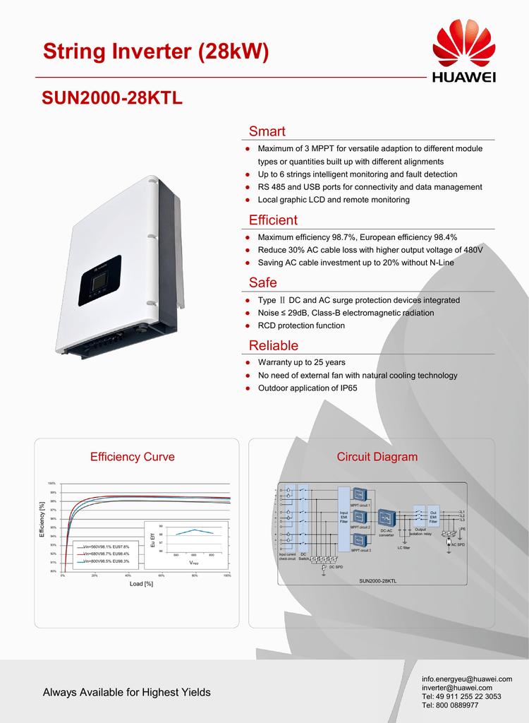 Huawei SUN2000 Solar String Inverters 28kW   manualzz com
