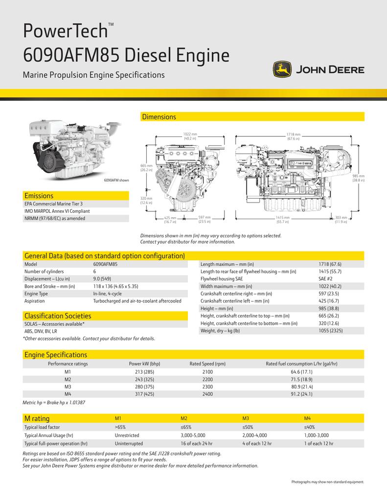 PowerTech 6090AFM85 Diesel Engine ™ Marine Propulsion Engine