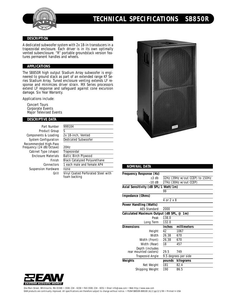 Sublow SB1000 | manualzz com