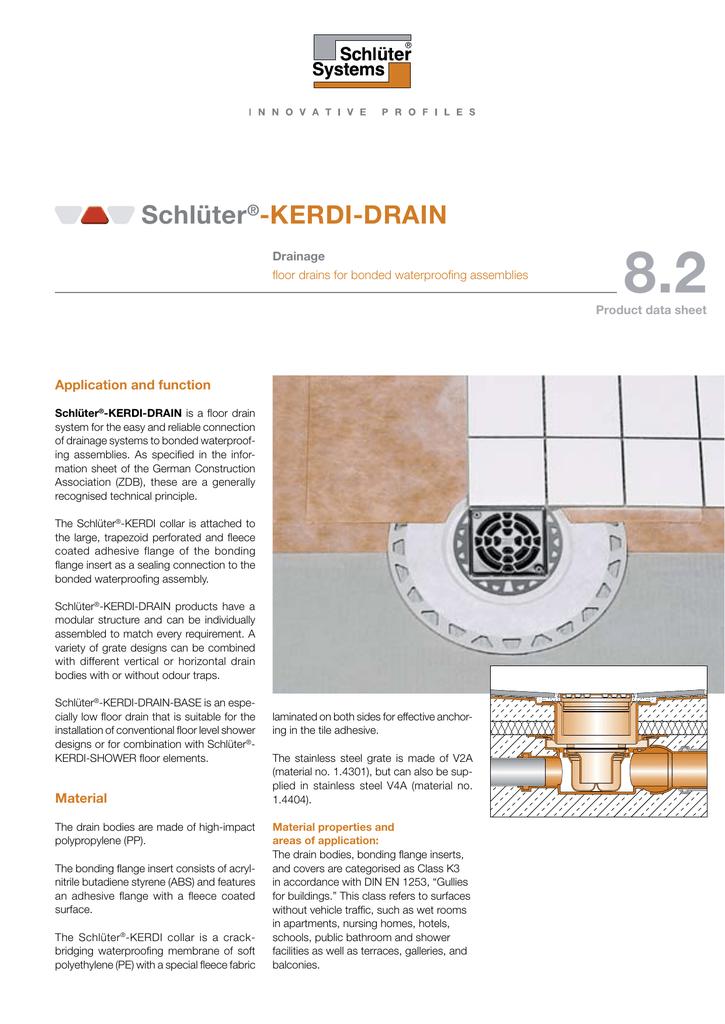 8 2 Schlüter ® -KERDI-DRAIN | Product data sheet (pdf | manualzz com