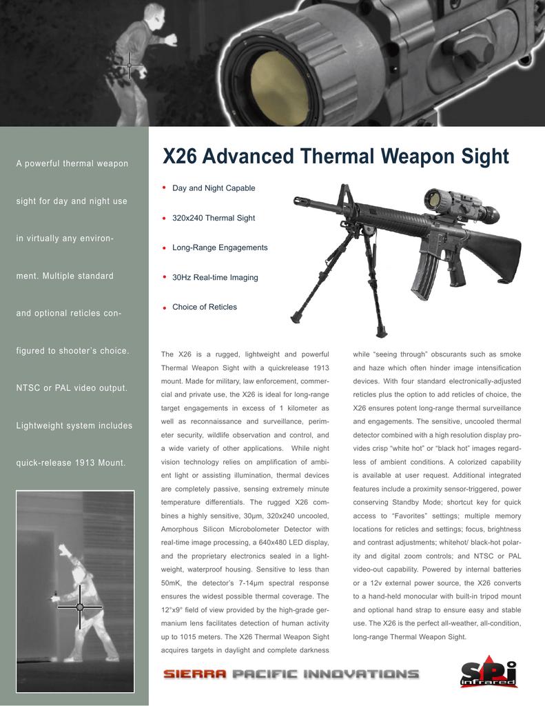 X-26 Thermal Rifle Scope Datasheet | manualzz com