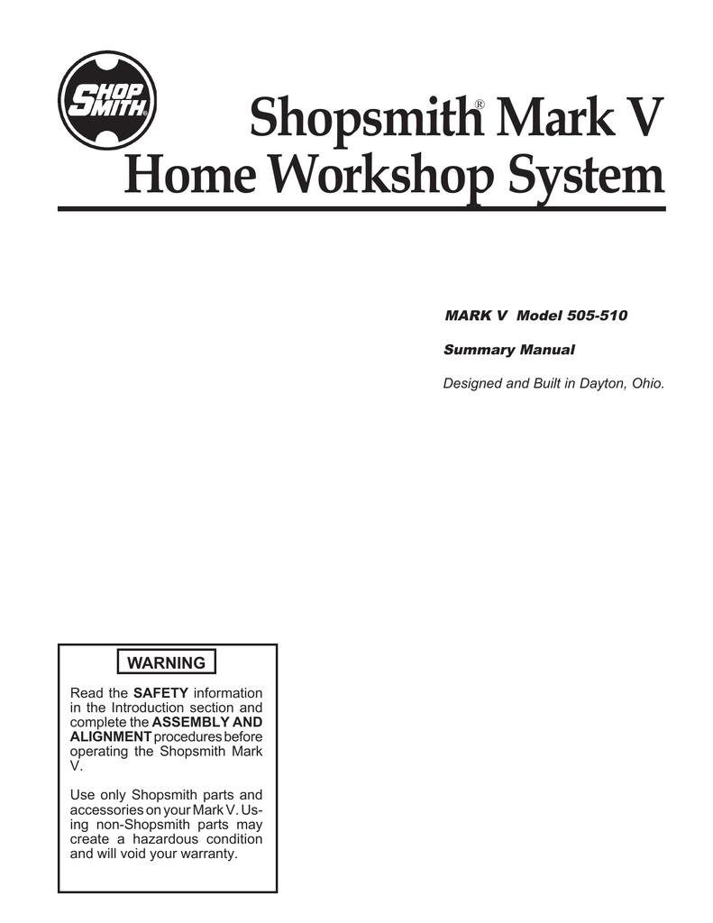 shopsmith mark v model 510 and model 505 summary owner\u0027s manual Telephone Wiring Diagram shopsmith mark v model 510 and model 505 summary owner\u0027s manual manualzz com