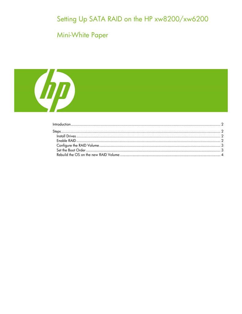 hp xw8200 manual