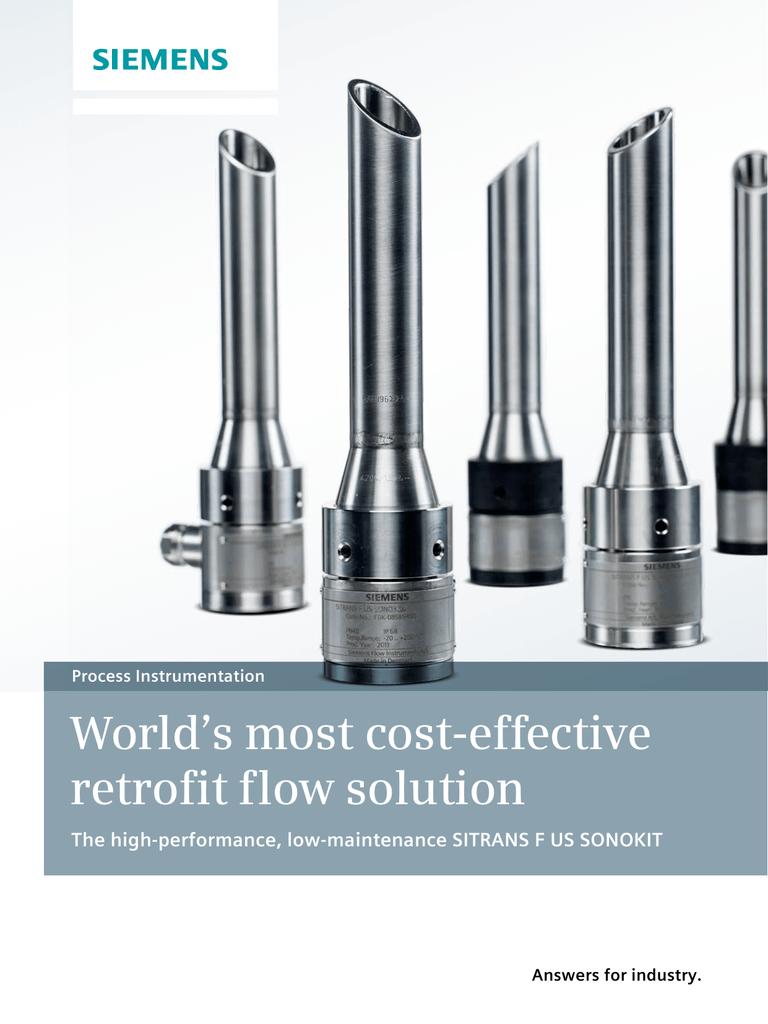 SITRANS FUS Sonokit Ultrasonic inline flow meter brochure