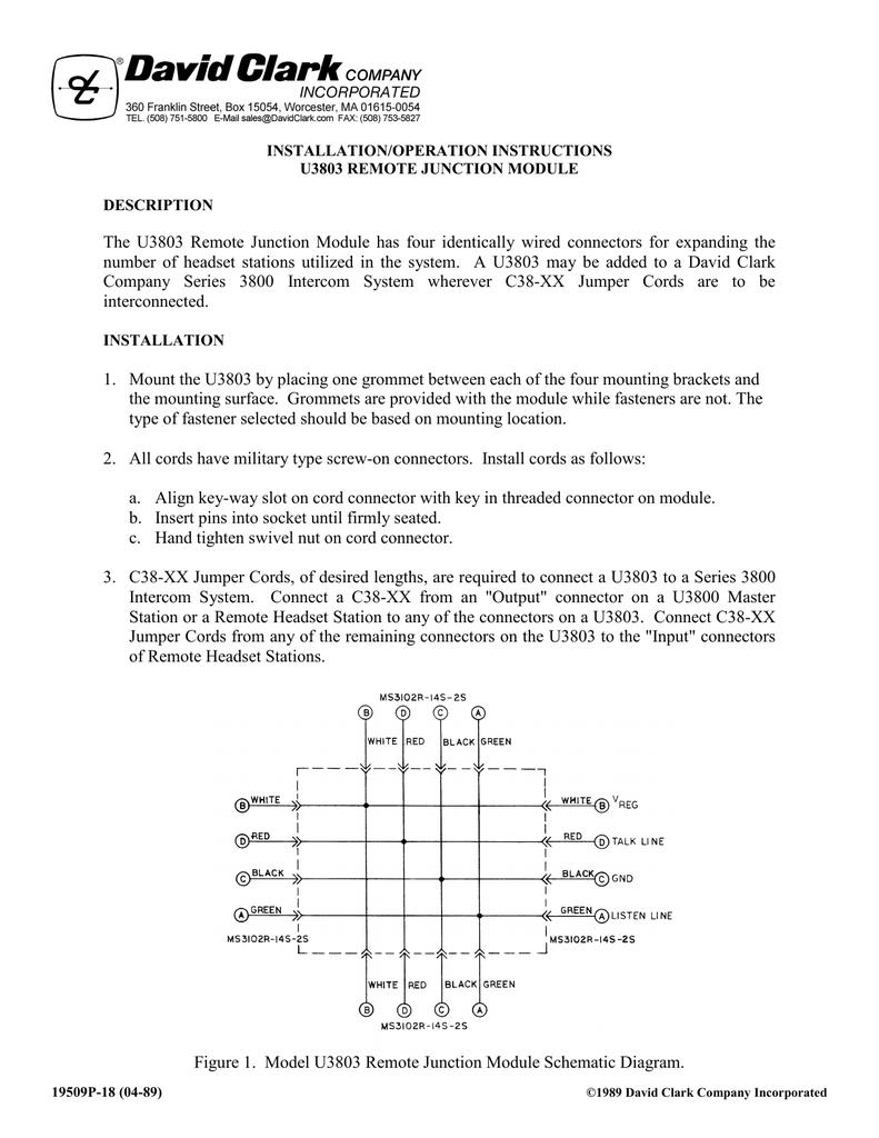 Installation/Operation Manual U3803 | manualzz.com on