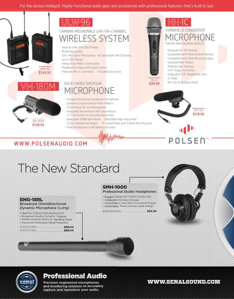 Audio-Technica AT8004L Handheld Omnidirectional Dynamic Long Handle Mic FREE 2DA