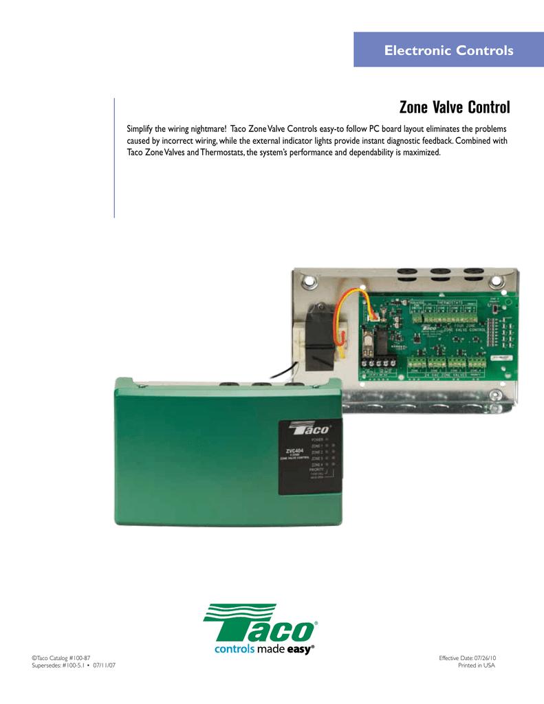 taco controls wiring enhanced zone valve control manualzz  enhanced zone valve control manualzz