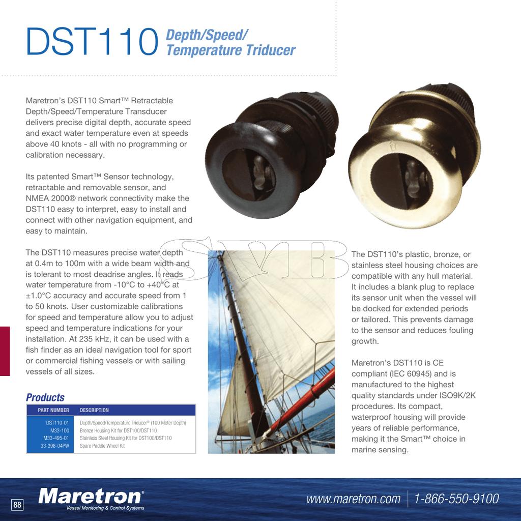 DST110 Depth/Speed/ Temperature Triducer | manualzz com