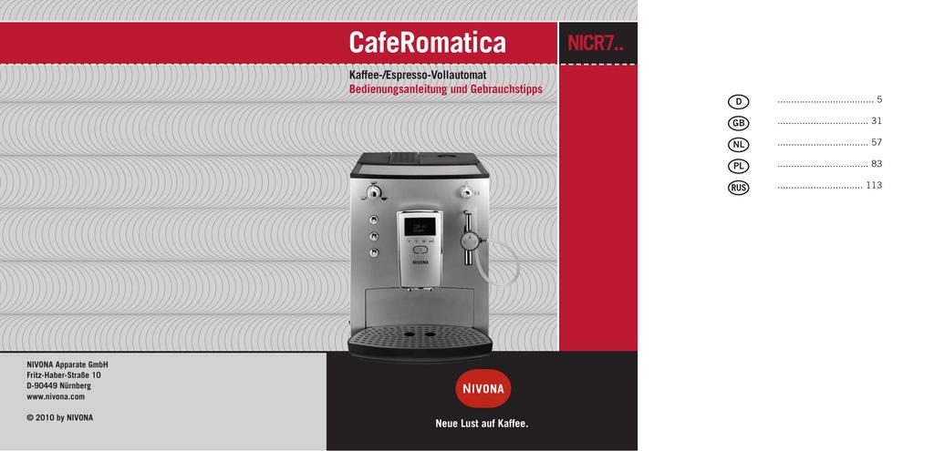 NIVONA Zubehör & Ersatzteile für Kaffee & Espressomaschinen
