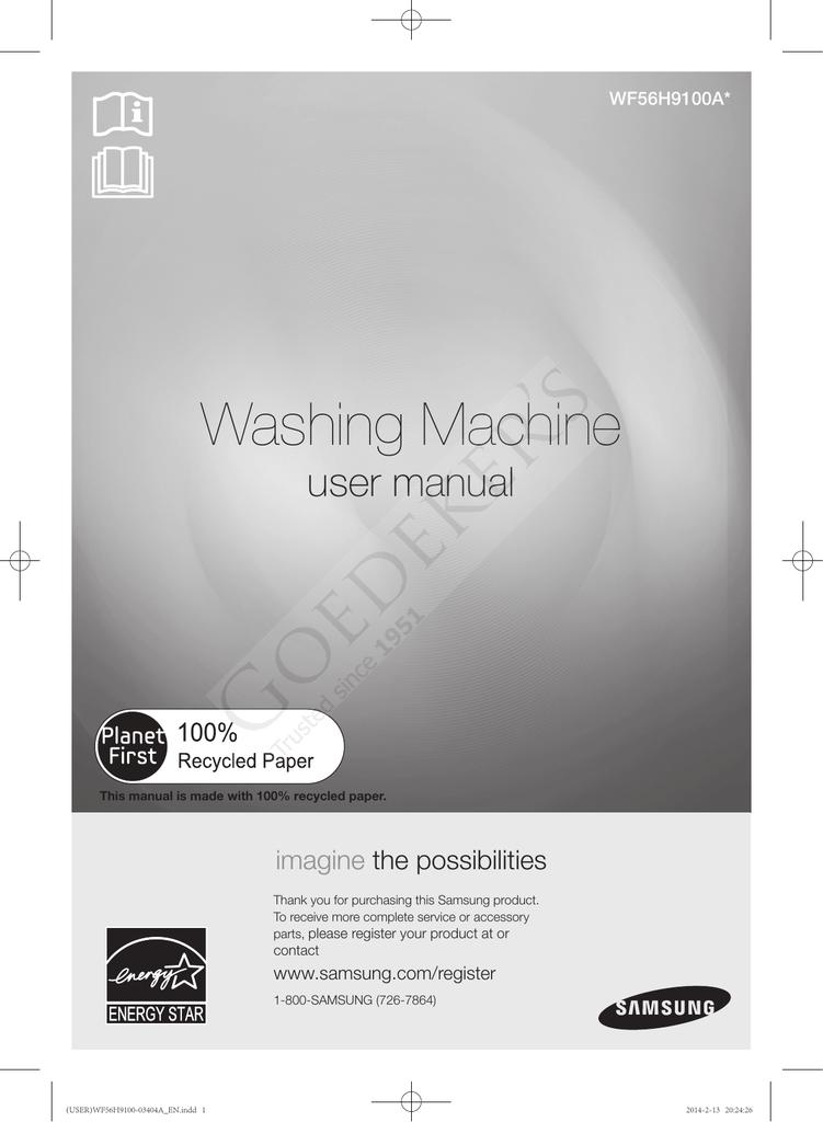 Samsung WF56H9100AG Use and Care Manual | manualzz com