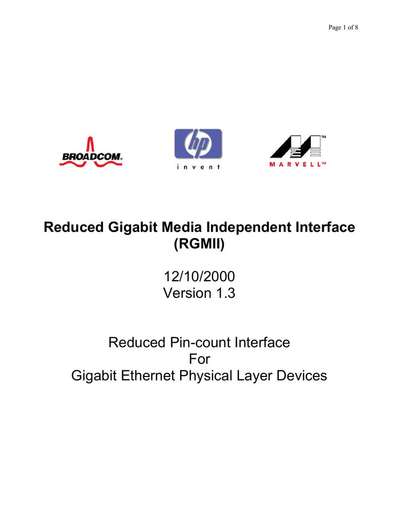 RGMII v1 3 standard | manualzz com