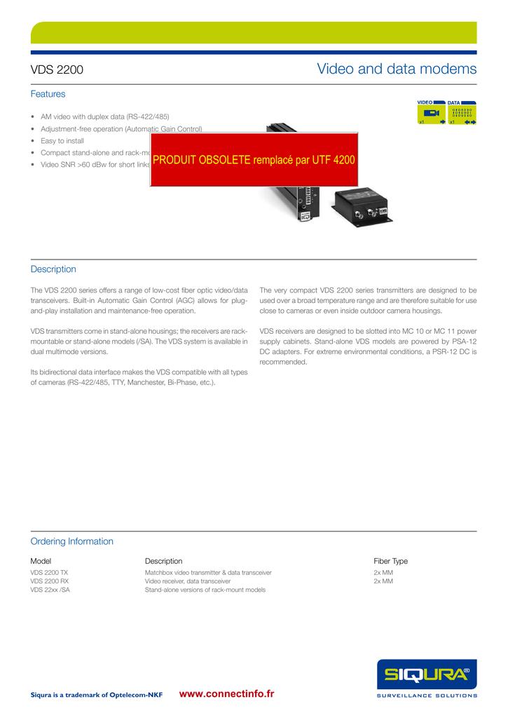 Video and data modems VDS 2200 | manualzz com