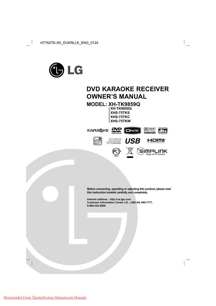 LG XH-TK9859Q User Guide Manual Pdf | manualzz com